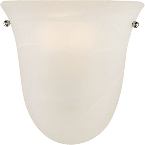 Murray Feiss Fans - Feiss WB1270BS Vista Glass Wall Vanity Bath Sconce Lighting, Satin Nickel, 1-Light (8