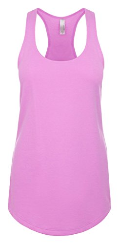 Next Level Apparel Women's The Ideal Quality Tear-Away Tank Top_Large_Lilac (T-shirt Top Tank Ringspun)