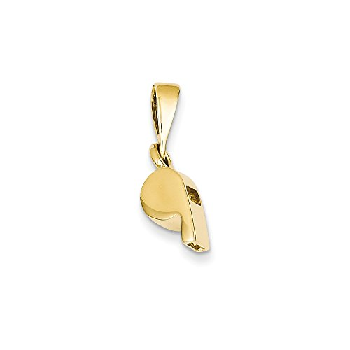 14k Gold Sports Whistle Pendant (0.79 in x 0.2 in)