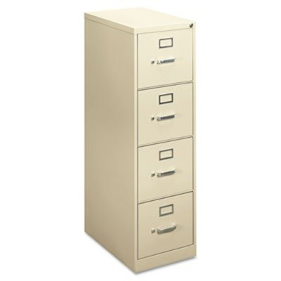 "basyx by HON - H410 Series Vertical File Cabinet, 4-Drawer, Locking, Letter, 22"" - Putty"