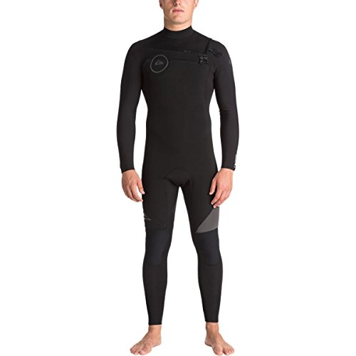 (Quiksilver 3/2mm Syncro Series Chest Zip GBS Men's Wetsuits - Black/Black/Jet Black/Medium)