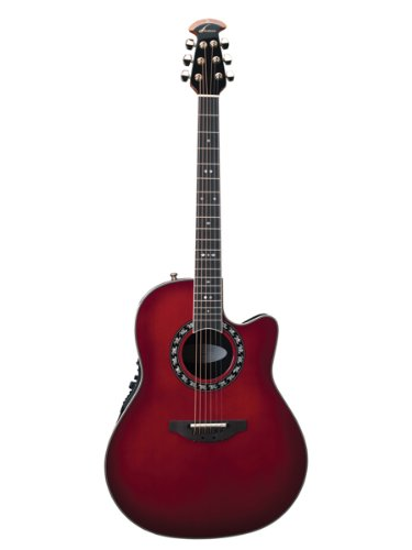 OVATION LEGEND, DEEP CONTOUR CUTAWAY, CHERRY CHERRY BURST GUITAR, W/ CASE -