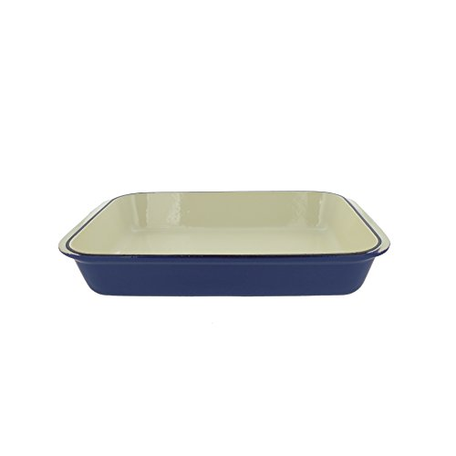 Chasseur 2.1-quart Blue French Enameled Cast Iron Rectangular Roaster