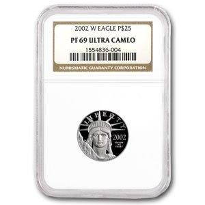 2002 W 1/4 oz Proof Platinum American Eagle PF-69 NGC (1/4) PF-69 NGC