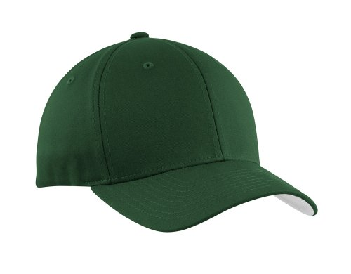 Flexfit Baseball Caps in 12 Colors. Sizes S/M - L/XL Forest Green