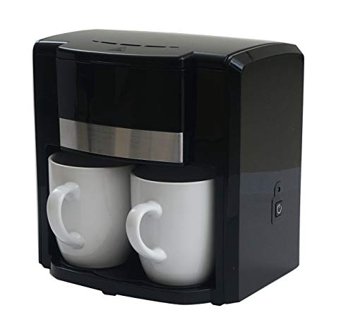 iiL SMAW Cafetera eléctrica de Goteo para 2 Tazas 2 Tazas de Regalo Incluidas Potencia: 500W, Filtro Permanente…