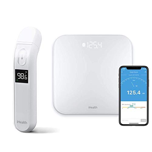 iHealth No-Touch Forehead Thermometer PT2L and iHealth Lina Wireless Smart Weight Scale HS2