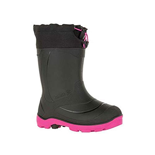 Kamik Girl's Snobuster1 Boot, Navy/Magenta, 2 M US Little Kid