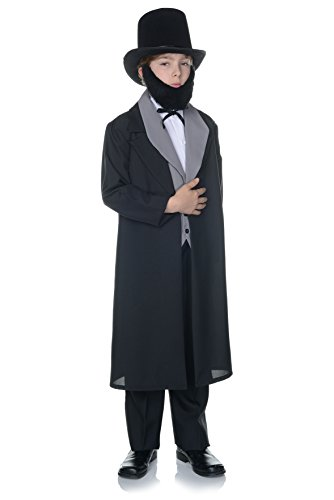 Underwraps Children's Abraham Lincoln Costume - (Mary Lincoln Halloween Costume)