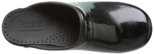 Sabots ouvert et sans sonja sanita brillant design noir coquille Ta81qxTvn
