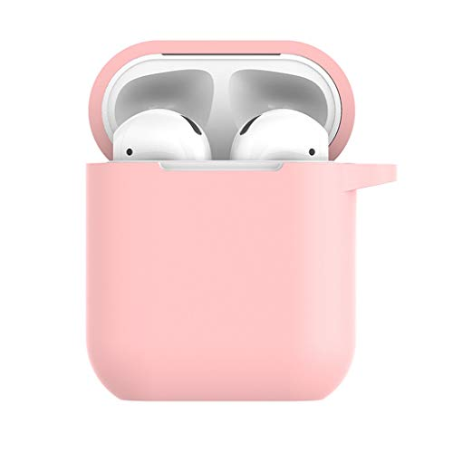 YRD TECH Waterproof Case Cover Compatible Apple AirPods Charging Case,Shockproof and Drop Proof air pods Protective Cover Soft Silicone Skin (Pink)
