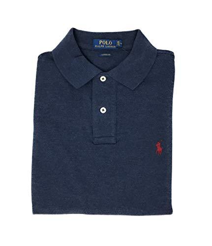 (Polo Ralph Lauren Mens Classic Mesh Polo Shirt (M, Navy Heather))