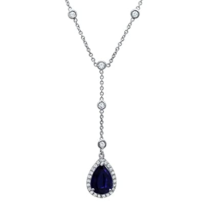 c06c62878a21d2 Amazon.com: Platinum Sapphire and Diamond Halo