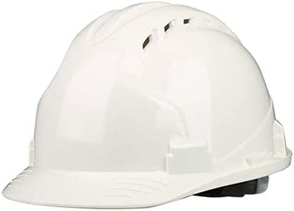 Yan Xiao Yu ヘルメット建設現場建設肥厚ヘルメット (Color : White, Size : One size)