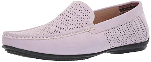 STACY ADAMS Men's Cicero Perfed Moc Toe Slip-on Driving Style Loafer, Lavender 7.5 M US