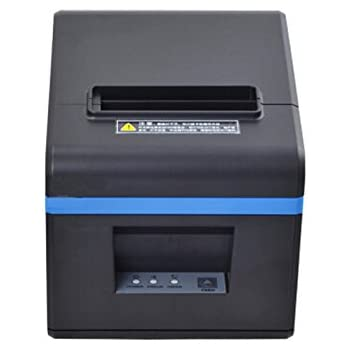 80mm POS Thermal USB Interfaces Printer, POS Printer with 80mm Thermal Paper Rolls - Auto Cutter - Cash Drawer Port - Works on Windows ...