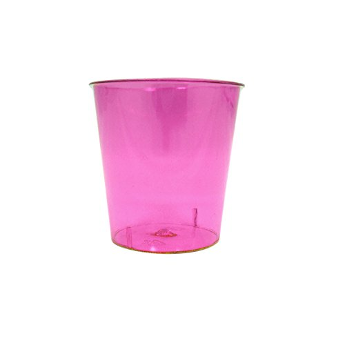 Neon Durable Plastic Party Shot Cups | Party Pack for Shots, Homemade Jello, Wine, Glass Style Catering 1oz Cup | Anapoliz Exclusive Cups (Pink) - Exclusive Tableware
