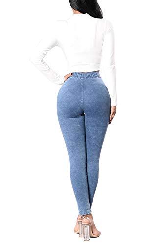Pantalon Long Skinny Haute Bleues Poche Jeans Taille Jeans Les De Claires Femmes des La UwqxzS8vn