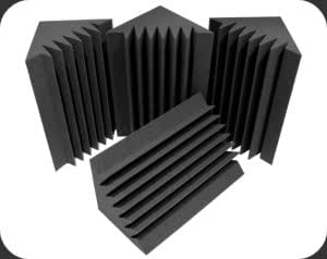 "8 Corner Bass Trap/Absorber - 12"" x 12"" x 24"" Acoustic Sound Foam Kit - SoundProofing and Deadening - Made in the USA!"