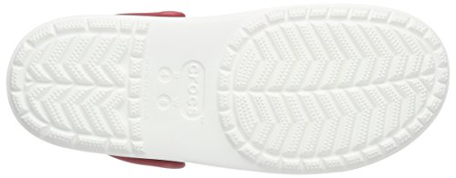 Citilane white Mixte Sabots Crocs Clog Adulte Rouge blanc Various pepper Rouge U7wacZxq