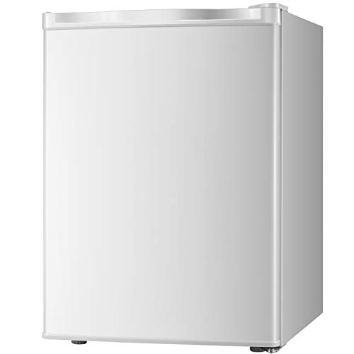 Compact 1.6 Cu Upright Compact Freezer with Single Reversible Stainless Steel Door, Adjustable Removable Shelves for Home Office, Dorm (1.6 Cu.Ft.)