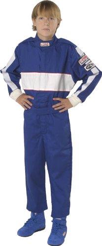 G-Force 4372CSMBU GF 105 Blue Child Small Single Layer Racing - Blue Racing Suit