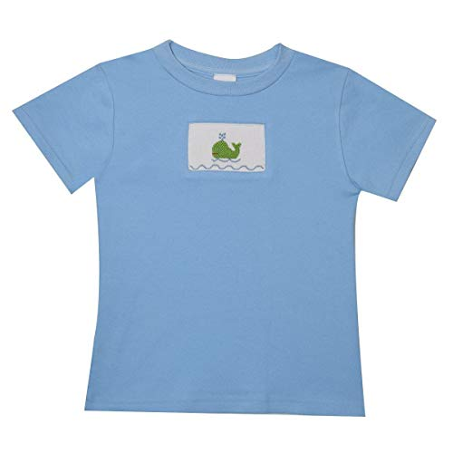 - Whale Smocked Boys T-Shirt