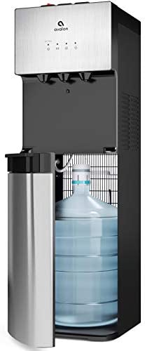 Avalon Limited Edition Self Cleaning Water Cooler Dispenser, 3 Temperature Settings – Hot, Cold Cool Water, Durable Stainless Steel Construction, Bottom Loading – UL Energy Star Approved