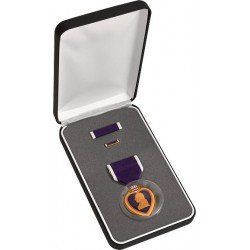 Medal Heart Military (Authentic 3 Piece Purple Heart Medal Set in Official Presentation Case)