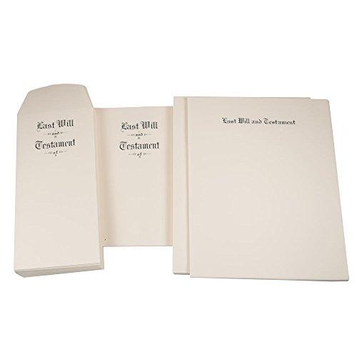 Letter Size Last Will & Testament Will (Testament Envelopes)