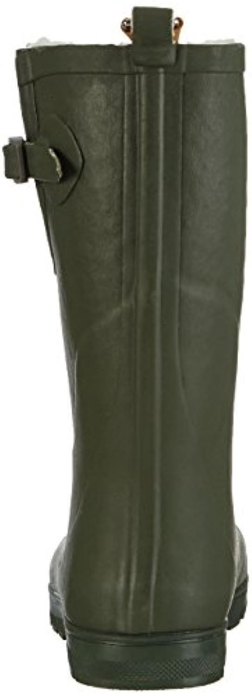 AIGLE Woody Pop Fur 24287 Unisex-child Wellingten Boot, Green (kaki 7), 1 UK