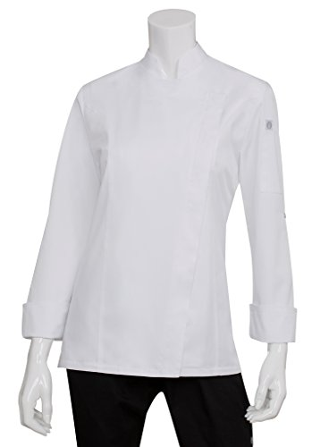 Chef Works Women's Lansing Chef Coat, White, X-Large by Chef Works