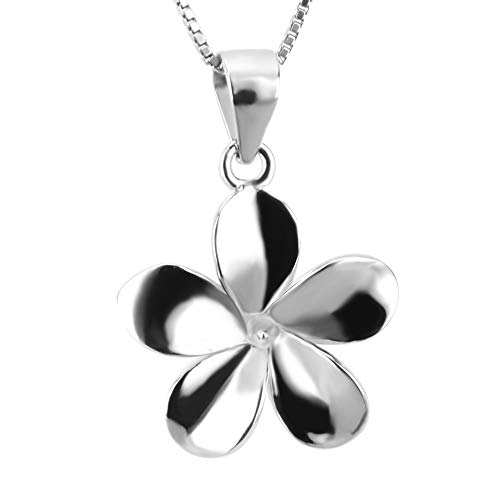 - NY Jewelry 925 Sterling Silver Daisy Flower Pendants for Pearl Necklace DIY, Pearl Pendant Fitting Mounts with Pearl Bead Cup Bail Pin for Women Jewelry Making