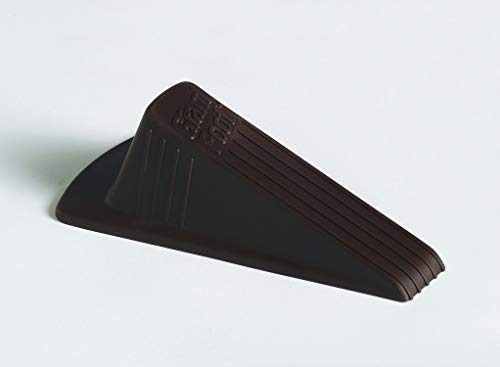 - Master Manufacturing Brown Giant Foot Door Stop, Heavy Duty Rubber Wedge Design, Made in the USA, Holds Doors Up to 2