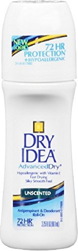 Dry Idea Anti-Perspirant Deodorant Roll-On Unscented 3.25 oz (Pack of 8) by Dry Idea