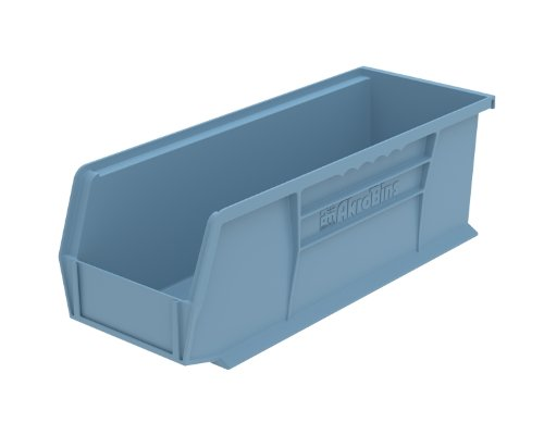 Akro-Mils 30234 15-Inch by 5-Inch by 5-Inch Plastic Storage Stacking Hanging Akro Bin, Light Blue, 12-Pack by Akro-Mils