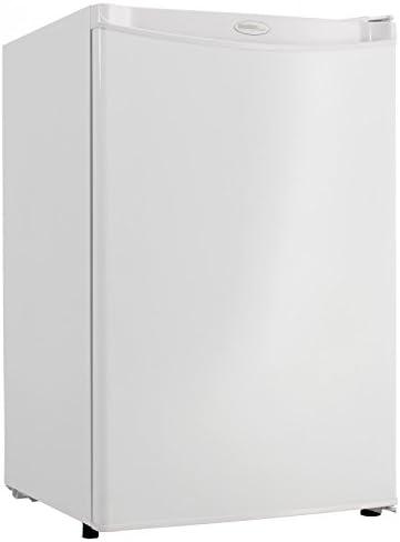 Amazon Com Premium Mini Fridge Appliances Compact Small Apartment Size Refrigerator In White Kitchen Dining