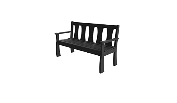 Remarkable Amazon Com Ruby Garden Bench 5 Foot Black Garden Squirreltailoven Fun Painted Chair Ideas Images Squirreltailovenorg