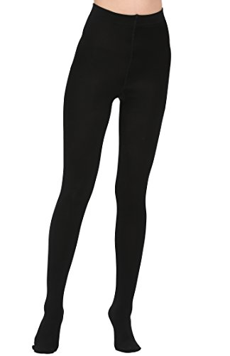 Aphro Women's Opaque Warm Tights Fleece Lining Pantyhose, Large - Black by Aphro (Image #2)