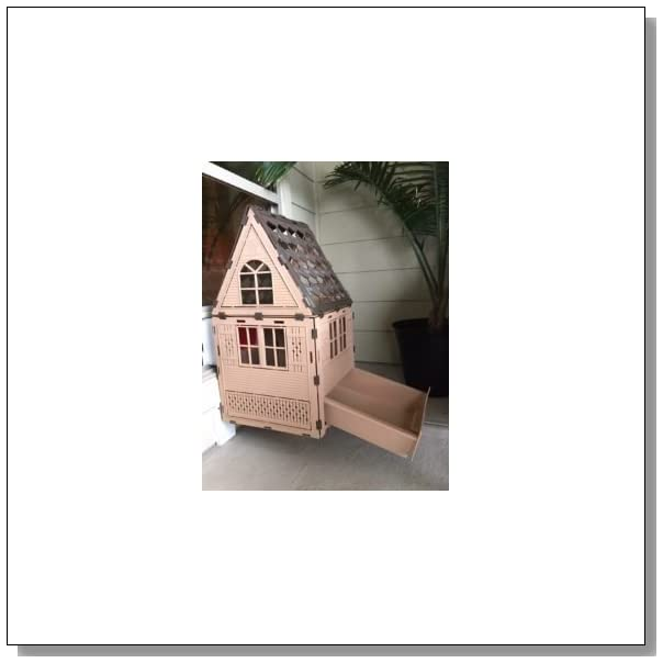 KittyKatFlat - Secure Outdoor Cat House, Enclosure with Litter Box Outside & Cat Door Mounted in Window - Studio Model