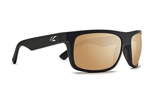 Kaenon Burnet Mid Sunglasses (Black Matte Grip, Brown 12 - Polarized Gold - Burnet Sunglasses Kaenon Polarized