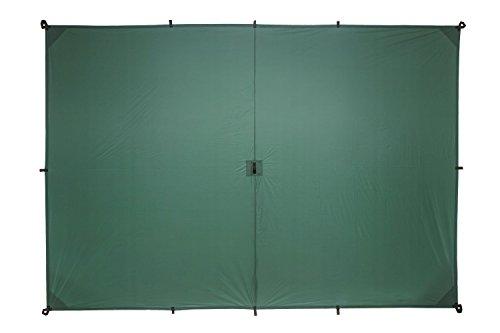 Ultralight Tarp (Aqua Quest Guide Tarp Medium 10 x 7 ft Green - Ultralight Waterproof Rip-Stop Sil Nylon Backpacking Rain Fly Shelter - Compact, Versatile & Durable)