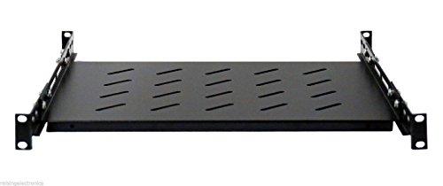 Fixed Rack Server Shelf 1U 19'' 4 Post Heavy Duty Rack Mount Adjustable 21.5''-28'' by Raising Electronics