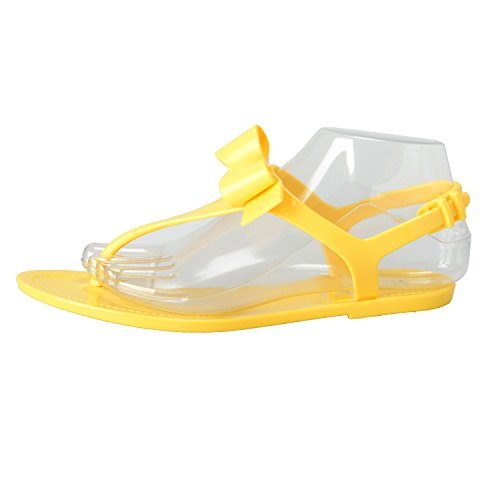 Yellow Women's Sandals Shoes Rubber Valentino Strappy Yellow Red EOq67nx