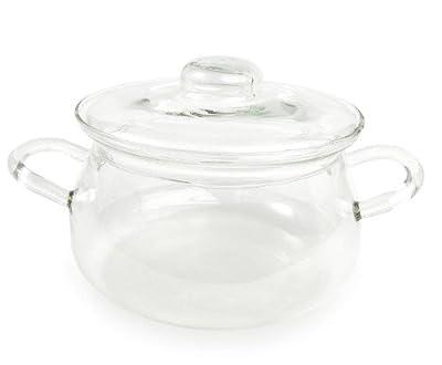 Catamount Glassware CG9736 Bean Pot with Glass Lid, 1.5-Quart
