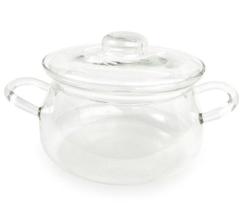 Catamount Glassware CG9736 Bean Pot with Glass Lid, 1.5-Quar