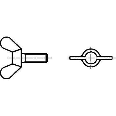 Dresselhaus vis à oreilles en fonte malléable, m8 x 25 mm-acier galvanisé-lot de 100