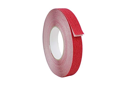 (WOD NST-20C Strong Grip Red Anti Slip Tape Safety Track 60 Grit Non Skid Weather Proof Indoor & Outdoor Traction Tape No Slip (Available in Multiple Sizes & Colors): 1 in. x 60 ft.)