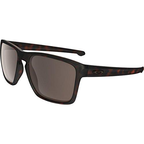 Oakley Men's Sliver Xl Rectangular Sunglasses, Matte Brown Tortoise w/Warm Grey, 57 - La Sunglass Hut