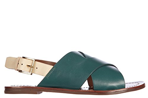 Tory Burch sandales femme en cuir bleecker vert